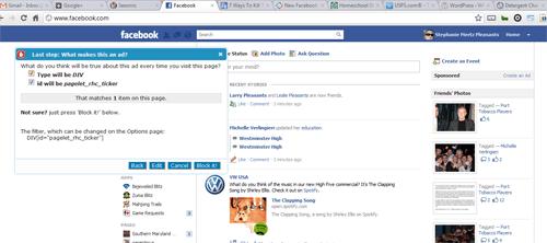 I killed the Facebook Ticker!