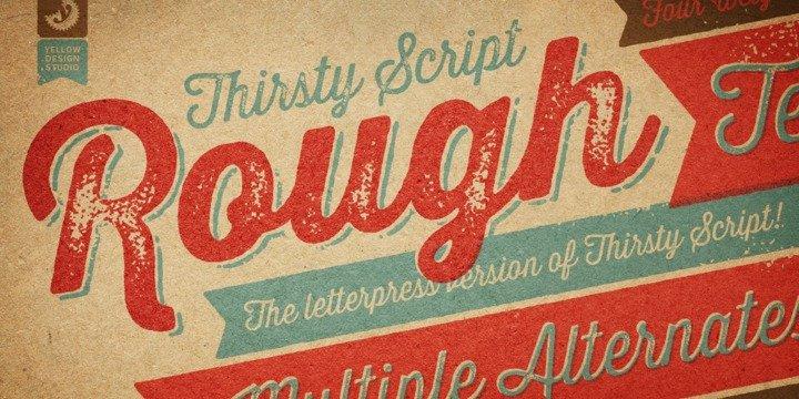Thirsty Rough, a Retro Script Font