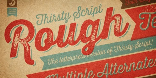 thirsty-rough-font