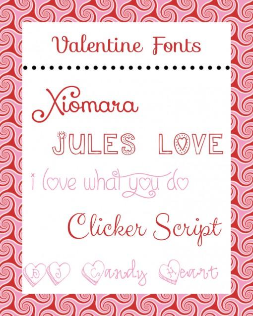 valentine's fonts