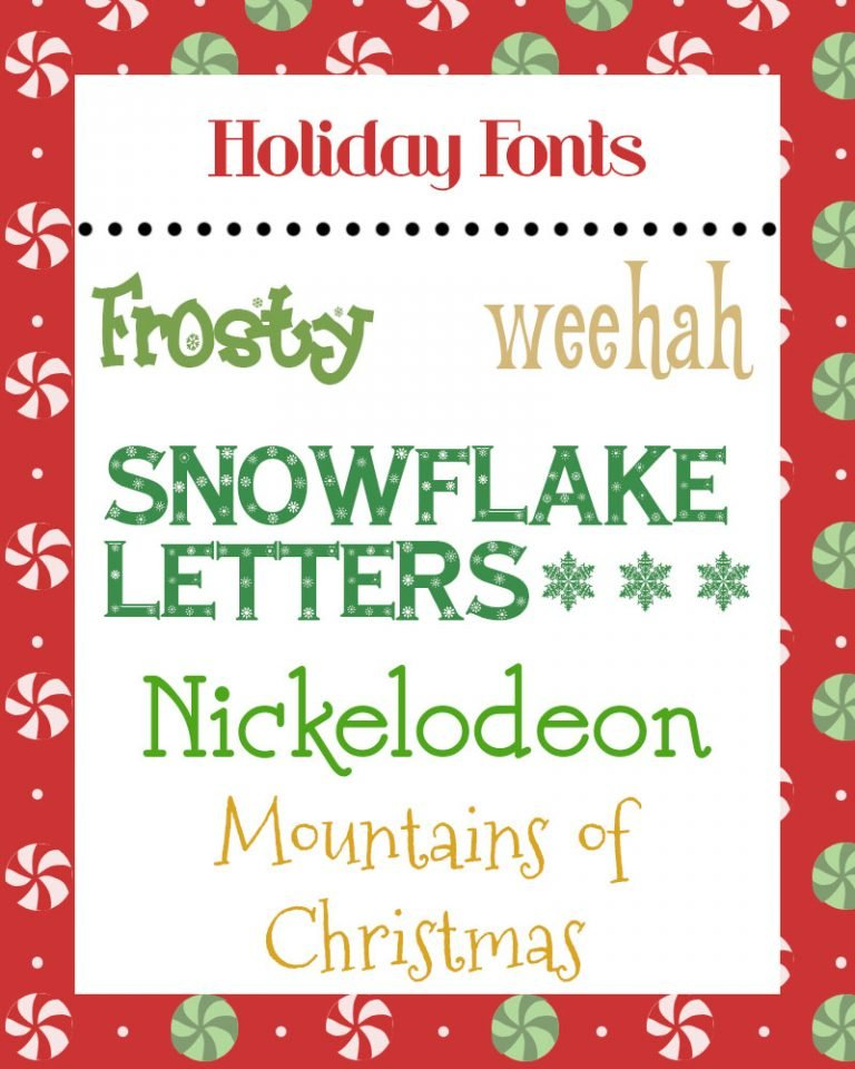 Friday Five: December Fonts